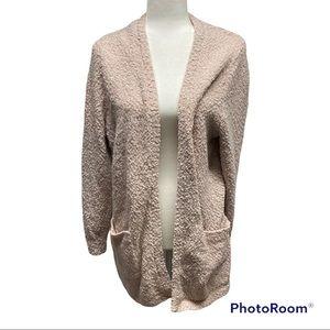 Torrid Size 2 Pink Fuzzy Cardigan Pockets Sweater